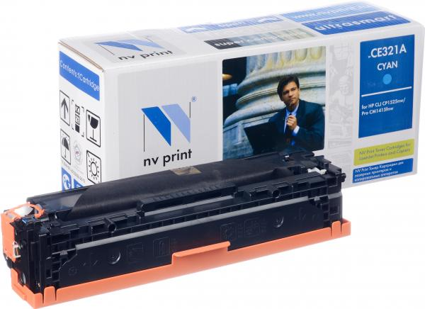картинка Картридж NV-Print для HP LJ Color CP1525/1415 Cyan, CE321A