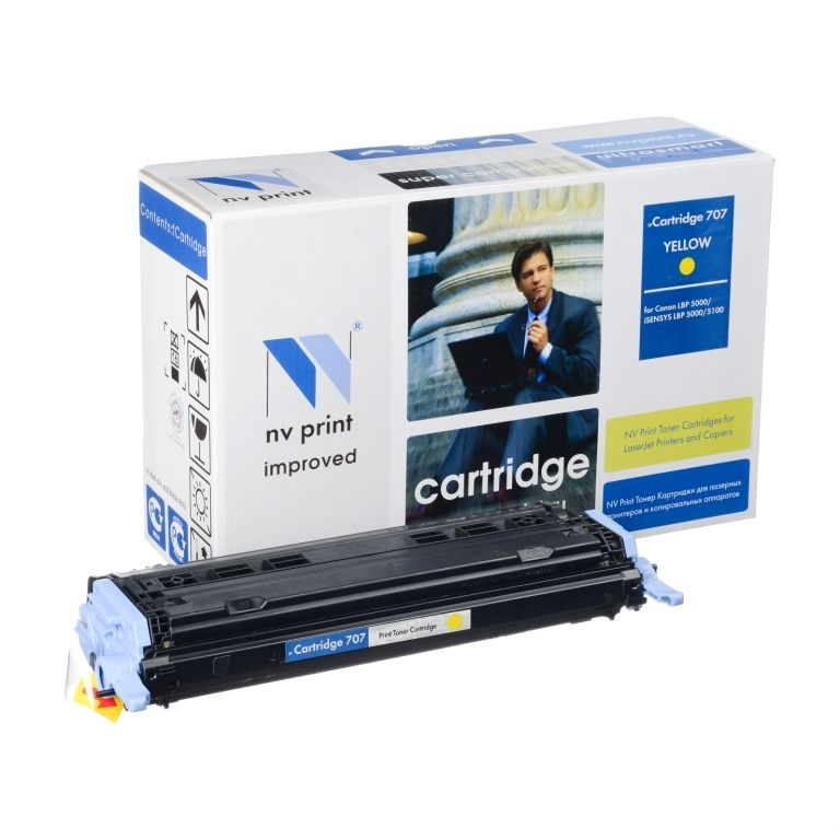 картинка Картридж NV-Print для Canon i-SENSYS LBP5000/ 5100, Cartridge 707 Yellow